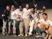 Os meliantes, da esquerda pra direita: Formagio, Felipe Ramos, Gus Fune, Junior W M, eu e Cambiaghi