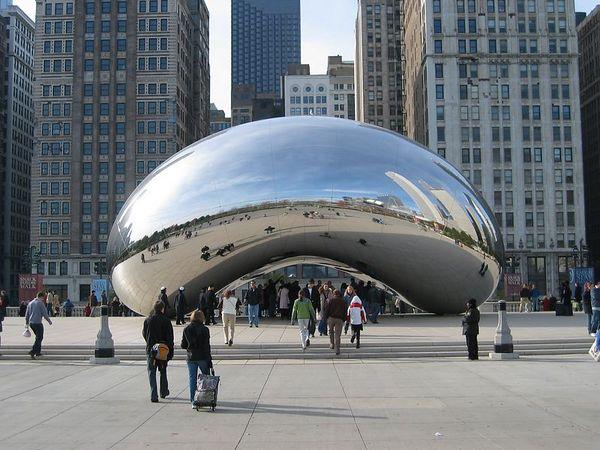 Cloud Gate quot   2004-2006   de Anish Kapoor  em ChicagoCloud Gate By Anish Kapoor