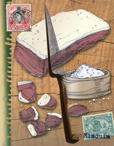É o seguinte: carne-de-sol não é charque, mas carne seca é jabá. Entenderam?