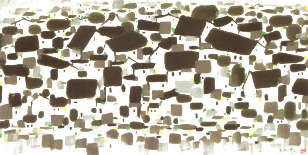 The Wu Village (1993), por Wu Guanzhong
