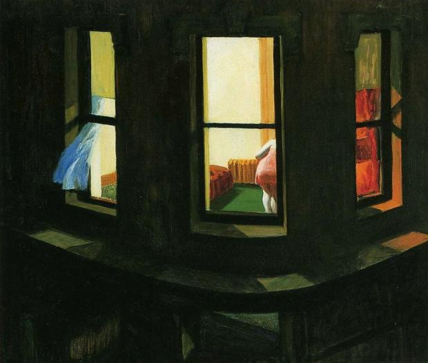 """Night Windows"" de Edward-Hopper (1928)"