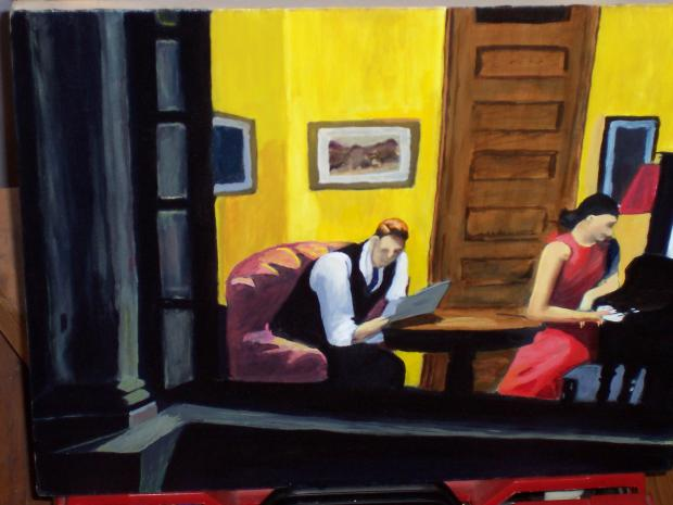 """Room in New York"" de Edward Hopper (1932)"