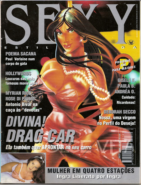 Drag Car. Revista Sexy. Setembro de 1995.