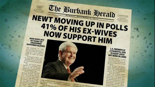 """""""Newt subindo nas pesquisas: 41% de suas ex-esposas votariam nele!"""""""