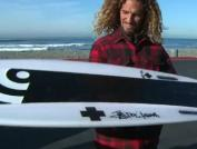 Prancha híbrida: Surfa e desce no snowboard