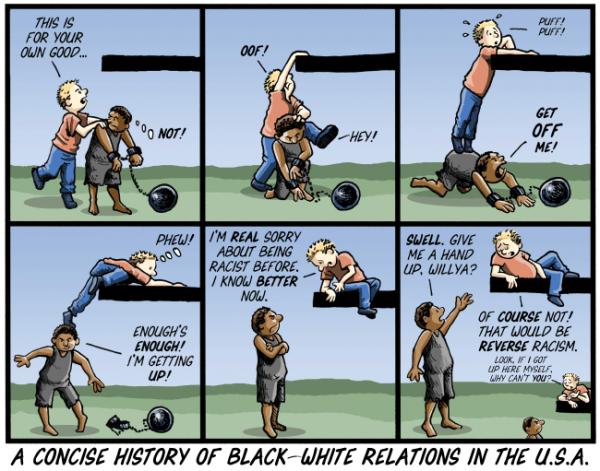 Pequena história das relações raciais nos EUA, e no Brasil também.