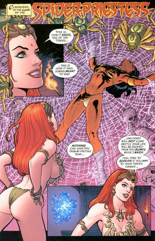 Spider Priestess, vilã criada por Frank Cho, que desenha algumas das melhores mulheres do universo.