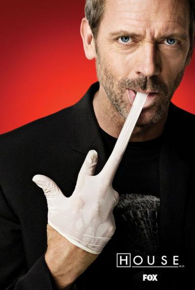 Hugh Laurie, como Dr House.