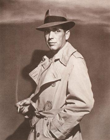Humphrey Bogart no filme Casablanca (1942). Apenas um dos maiores clássicos do cinema