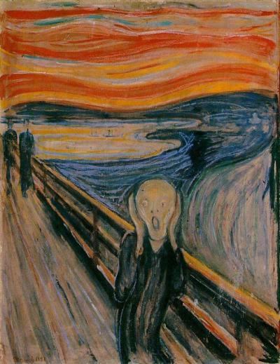 """""""O Grito"""" (1893) de Edvard Munch"""