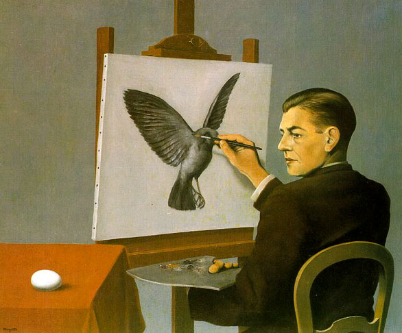 """Clarividência (Auto Retrato)"" (1936), por René Magritte (1898-1967)"