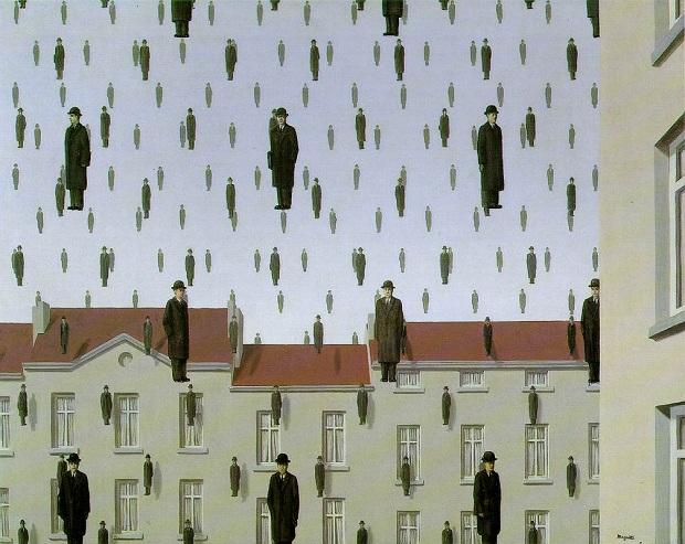 """""""Golconde"""" (1953), por René Magritte (1898-1967)"""