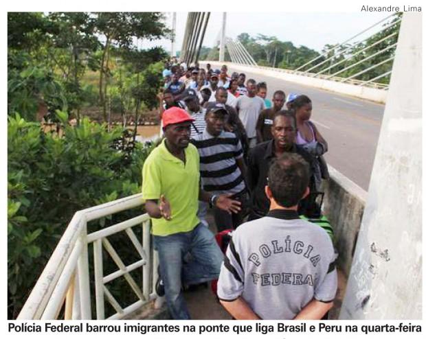 Imigrantes de ontem e de hoje.