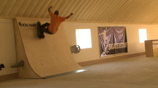 16- Syrian Pro skater Maysam Faraj shreds the Rocket Wallride