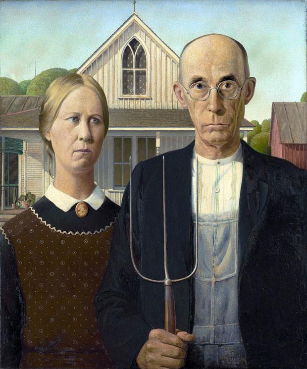 """American Gothic"", de Grant Wood"