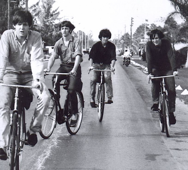 The+Beatles+on+yer+bikes