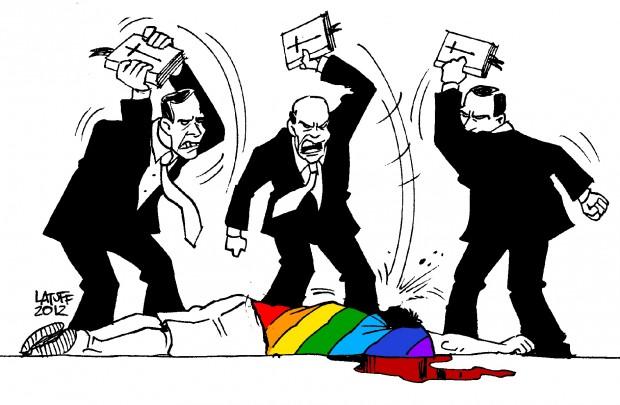 homofobia, por carlos latuff