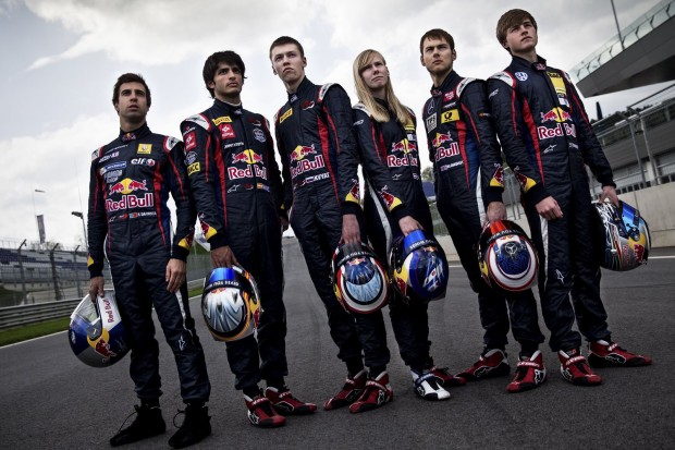 Pilotos das categorias de base da Red Bull