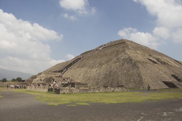Pirâmide do Sol, na cidade de Teotihuacan – Fonte: Arquivo pessoal