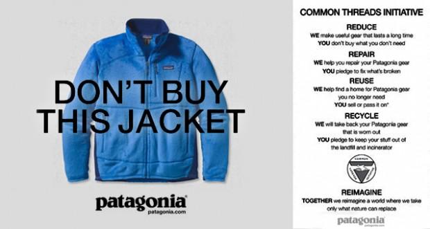 """""""Não compre essa jaqueta"""""""