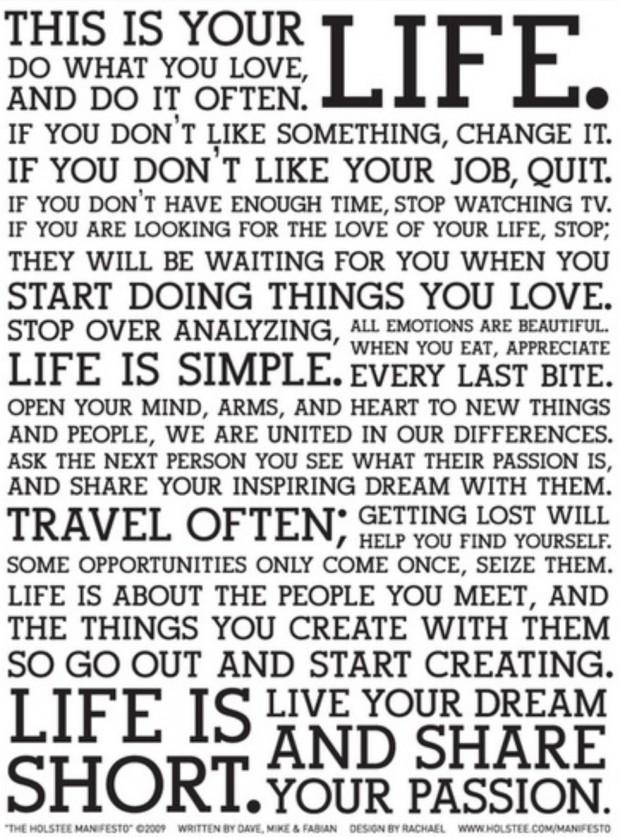 """Típico poster """"Faça o que você ama"""""""