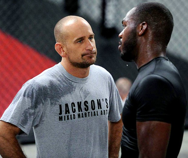 "Greg ""The Guru"" Jackson e seu pupilo, Jon ""Bones"" Jones"