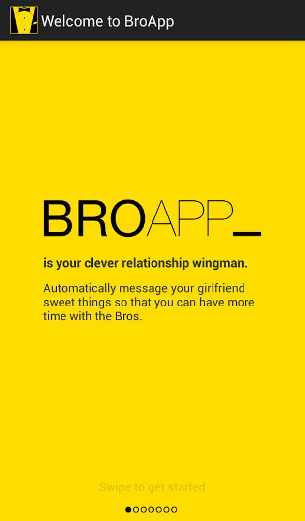 """O """"BroApp"""" promete cuidar da sua namorada enquanto você está com os amigos"""