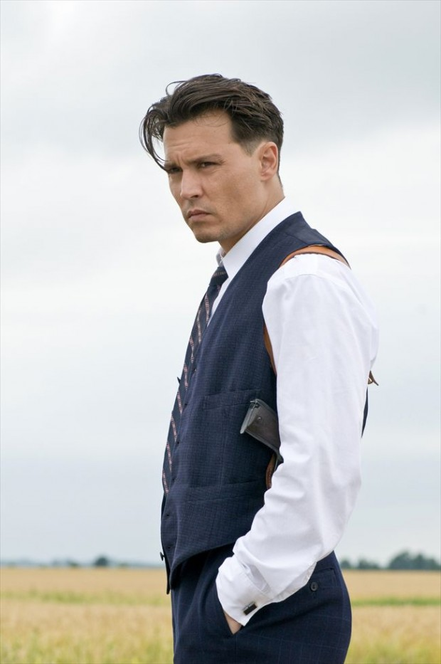 JOHNNY DEPP is John Dillinger in Public Enemies.