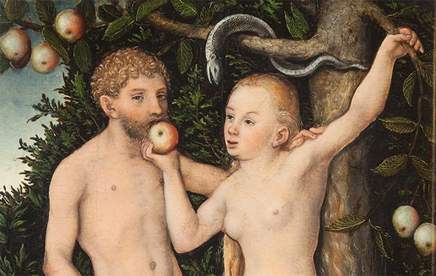 """""""Vem cá Adão, vem pra fora da bolha que aqui é o maior barato"""", a Eva parece estar dizendo."""